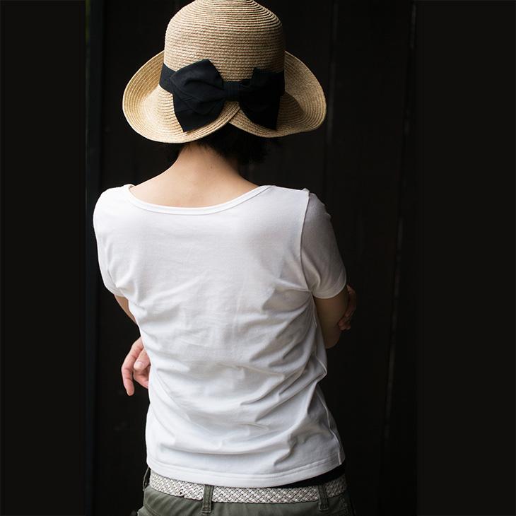 透け具合を実験!白いTシャツを縫ったよ!