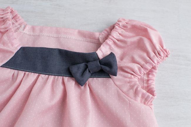 女の子赤ちゃんの涼しい夏服セット作りました。